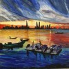 Sunset Frame in Manama, Bahrain