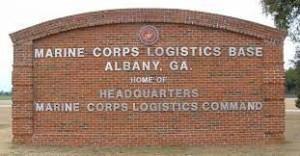 marine corps logistics base albany-sign
